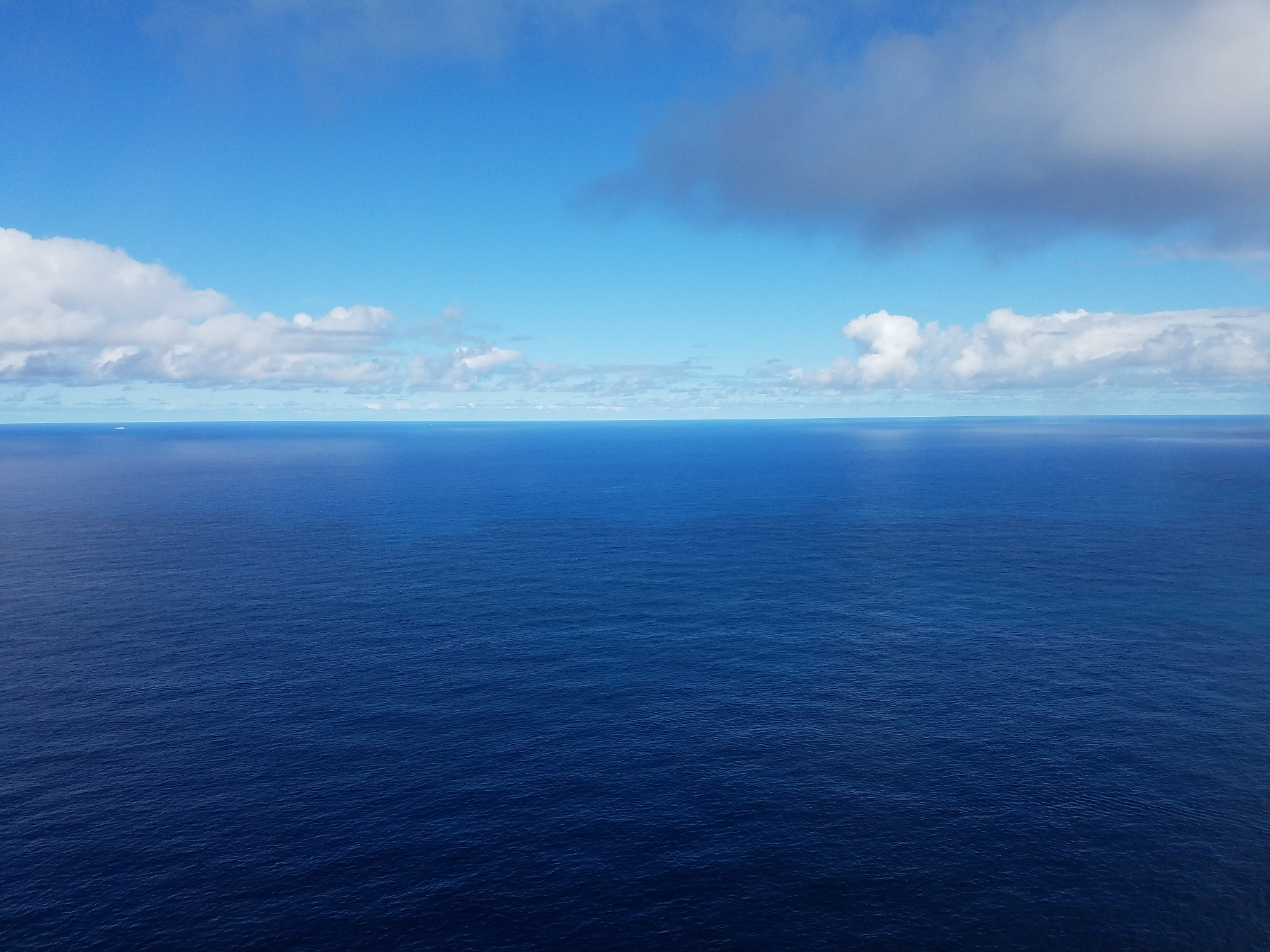 Arial view of ocean