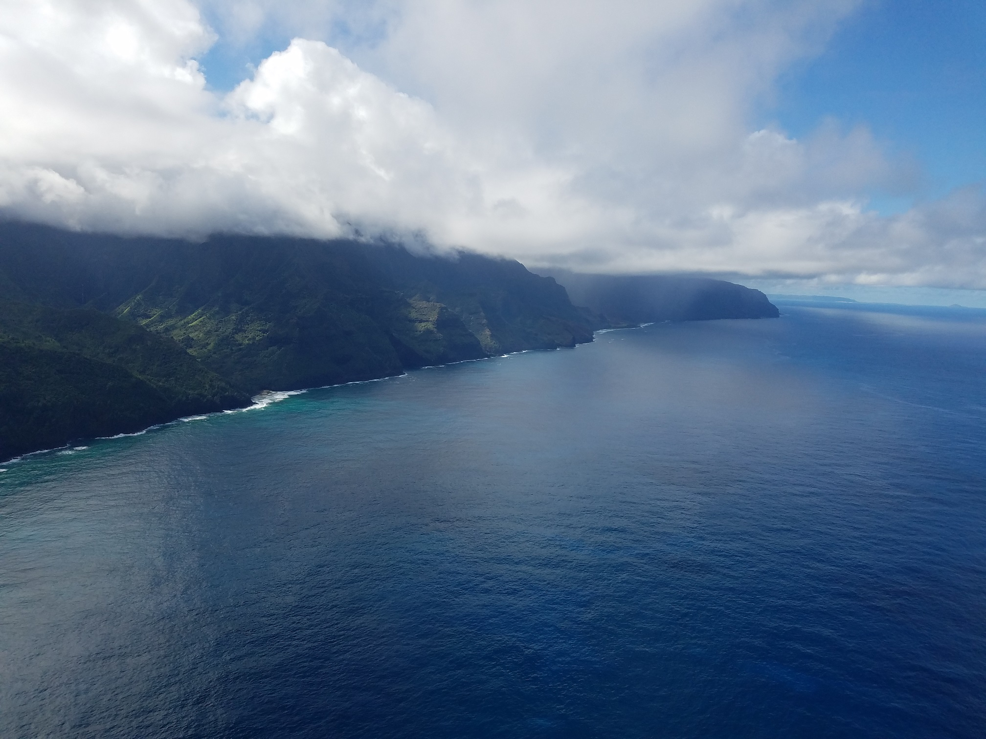 Heli tour ocean